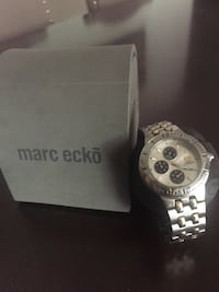 round silver-colored chronograph watch with link bracelet West Covina, 91792
