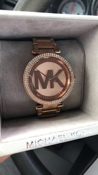 round gold Michael Kors analog watch with link bracelet Manassas, 20109