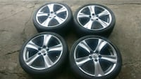 "Complete set of OEM 18"" LEXUS WHEELS WITH TIRES in Toronto, M9L 2K6"