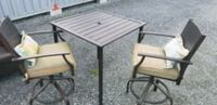 Patio high table with cushions  Squamish, V8B 0C3