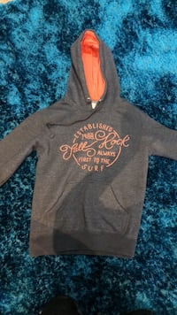 gray and black pull over hoodie Beaconsfield, HP9 1JW