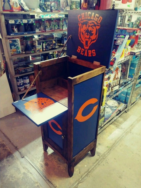 Groovy Chicago Bears Wine Bar Cabinet Uwap Interior Chair Design Uwaporg