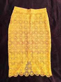 Yellow floral pencil skirt Oslo, 1069