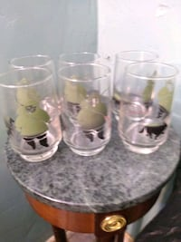 Mid Century glasses 6  Burlington, L7R 3P8