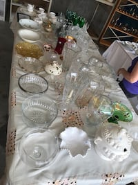 Crystal vases bowls candy dishes plus others Edmonton, T6L 1Y8