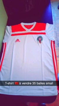white and red Adidas jersey shirt Montréal, H1W 1S8