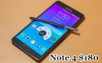 black Samsung Galaxy Note 4 smartphone