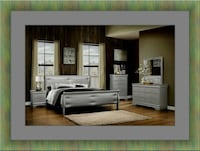 11pc Grey Marley bedroom set with mattress