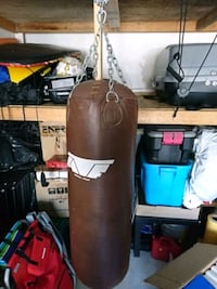black and brown heavy bag Ajax