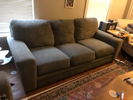 Gray couch and love seat