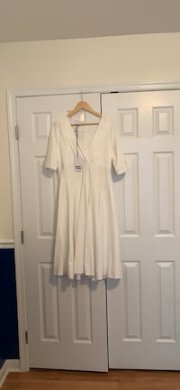 NWT. Unique Vintage 1950's swing dress, Ivory color. Herndon, 20171