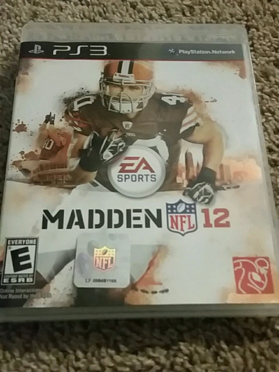 Photo Madden NFL 12 PS3 game case