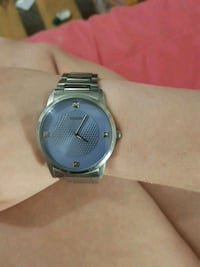 round silver-colored analog watch with link bracelet Guelph, N1H 7X5