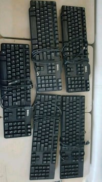 black corded computer keyboard and mouse Laval, H7P 3A7
