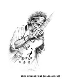 Keith Richards drawing Beaumont, T4X 1C6