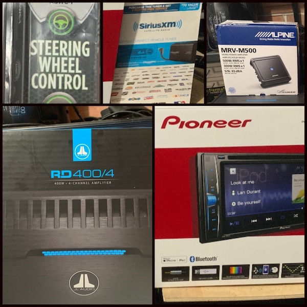 5 items BUNDLE/GROUP Sale- All BRAND NEW items- JL Audio 4 Channel Amp,  Alpine Subwoofer, Pioneer receiver, Sirius XM tuner kit w/ 3 months free  and