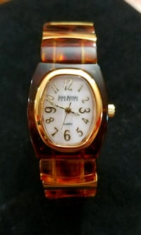 Joan Rivers Simulated Tortoise Shell Stretch Watch Pleasant Valley, 12569