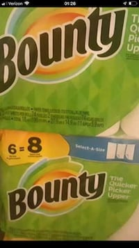 Bounty Paper  Towels, 6=8 rolls Odenton, 21113