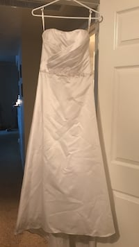 $100 for both. Bridal gown is Davids Bridal. It's a size 8 tailored for a 5'0 tall bride.  Austin, 78726