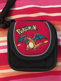 Black pokemon charizard printed pouch game case ds game holder sp case  Antelope, 95843