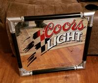1998 Coors Light Silver Bullet Framed Mirror  Branson, 65616