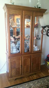 Wood glass china cabinet with storage Springfield, 22150