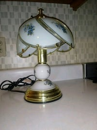 brass and white table lamp Phoenix, 85035