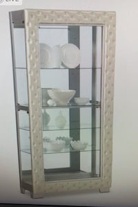 Pearl tufted curio cabinet (no shelves) Owings Mills, 21117