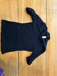 american apparel rib high neck top