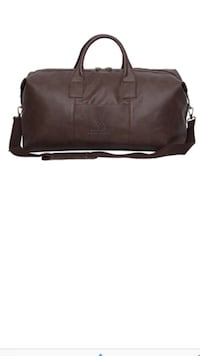 Brown leather two way duffel bag