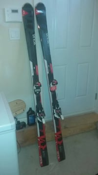 pair of black-and-white snow skis Toronto, M5A 4G6