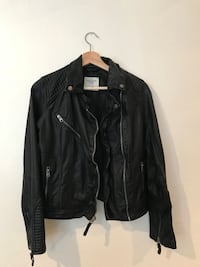 Abercrombie & Fitch Women's Faux Leather Jacket Size Small Pre-owned Daly City