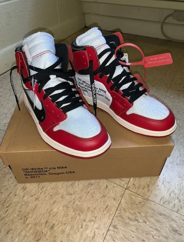 sale retailer cced0 9a938 Jordan 1 Chicago Retro High OG x OFF WHITE (THE 10) Size 8.5