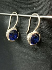Royal Blue Sapphire Earrings  Toronto, M1T 3G2