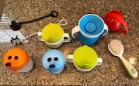 Training cups, pacifier case, pacifier clips and hair brush. Virginia Beach, 23456