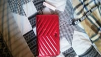 New vs red quilt large wallet