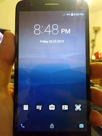 Android Smartphone with case and screen protector