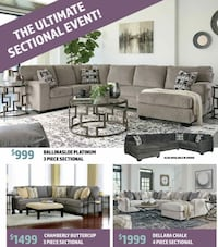 Brand new sectionals starting @ $999 $39 down no credit check financing  Massapequa