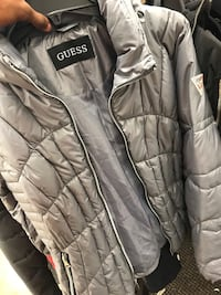 Gray and black the Guess zip-up jacket Suitland-Silver Hill