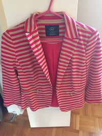 red and white stripe button-up shirt Blainville, J7C 1Y2
