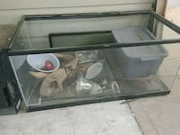 black framed clear glass fish tank West Kelowna, V4T 2M3