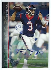 TOM SAVAGE 2015 Topps Field Access AUTOGRAPH Texans Las Vegas