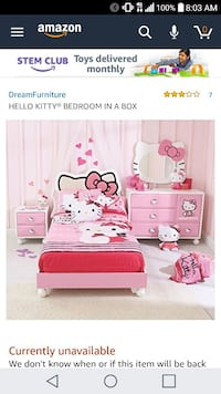 Hello Kitty Bedroom Set Silver Spring, 20902
