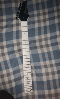 Ibanez 24 fret neck with locking tuners and nut, no string tree