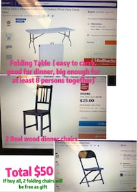 Table and chairs. It's used!but good quality ! 迈阿密, 33136