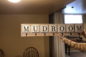 Mud room coat rack