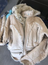 Wilson leather suede and fur womens coat Las Vegas, 89148