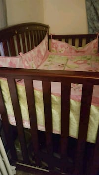 baby's brown wooden crib Hyattsville, 20782