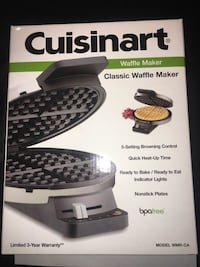 New Cuisinart waffle maker classic round stainless steel El Monte, 91731