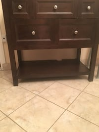 brown wooden 2-drawer nightstand Montréal, H1Y 1L1